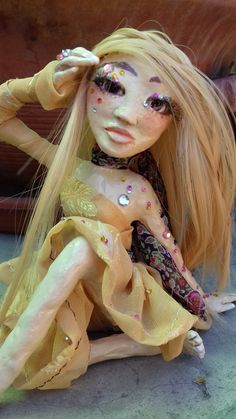Summer beauty- hand painted art doll