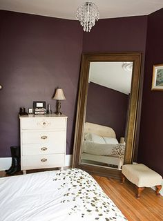 It kills me because I need a big mirror like that and that paint color is amazing but we cant do the walls that darkk