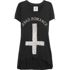 Zoe Karssen Dead Romance cotton and modal-blend T-shirt ($77) ❤ liked on Polyvore