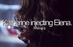Katherine injecting Elena