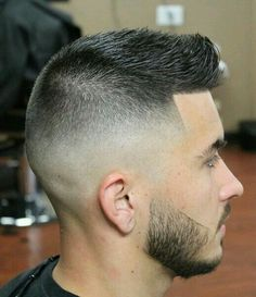 I like the fade...the shaping of the beard and sides of the hair. Men's hairstyles haircut guys men