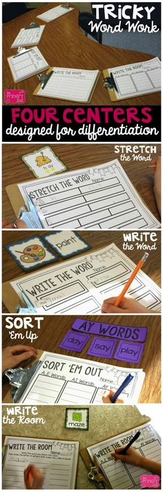 Word Work for nearly every phonetic skill in first and second grades!