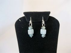 Aquamarine gem stone earrings with Topaz crystals by MDJewelCraft, $18.00
