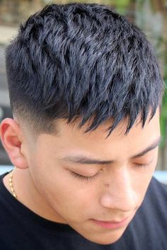 Nothing Suits As Flattering As A Mid Fade Haircut ★ Mens Messy Hairstyles, Short Spiky Hairstyles, Asian Men Hairstyle, Haircuts For Men, Popular Haircuts, Men's Hairstyle, Medium Hairstyles, Hairstyles Haircuts, Very Short Hair Men