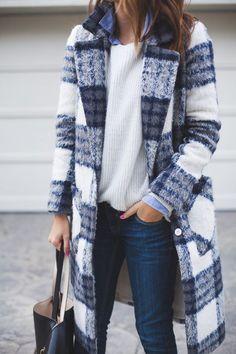 plaid coat | style More
