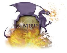 #Logo #YouTube #MMDR #Dragon #violet #or #photoshop #fire #feu #métal #flare #blason