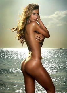 Shall Beautiful blonde girl naked on beach