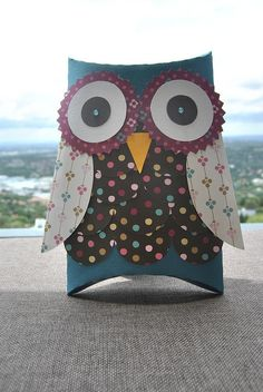 Owl box created with Silhouette Cameo