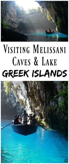 *PIN FOR LATER* Visiting the Magical Melissani Caves & Lake on Kefalonia in the Greek Islands! Kefalonia is such a special island, and the beautiful Melissani Caves are well worth visiting.