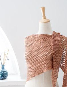 Summer Sky is lightweight and airy one skein wonder - pattern on LoveKnitting