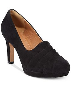 4e60df4c4b9a Clarks Artisan Women s Delsie Joy Platform Pumps - Pumps - Shoes - Macy s  New Wardrobe
