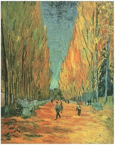 Vincent van Gogh Painting, Oil on Canvas Arles: November, 1888 Private collection F: 569, JH: 1623  Van Gogh: Les Alyscamps Van Gogh Gallery