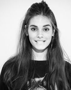Caitlin Stasey, love her half-up hair + brows.  If you don't have amazing brows you're average