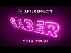 Saber + Element 3D V2 Tutorial - User SABER to write on Element 3D Text Layers - Sean Frangella - YouTube