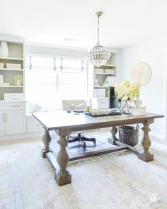"1,707 Likes, 61 Comments - Kelley Nan | Gracious Living (@kelleynan) on Instagram: ""Do I love having a dining table as a desk? YES! See why and the 13 other tables I've rounded up…"""