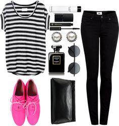 """""""brighten your day with a pop of pink"""" by emilylovescats-913 ❤ liked on Polyvore"""