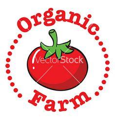 Organic farm vector - by iimages on VectorStock®