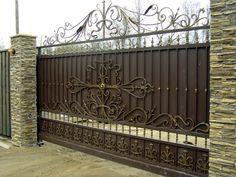 кованые ворота | Откатные кованые ворота фото и цены ...