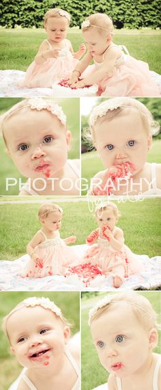 <3 adorable twin cake smash <3  {Photography by Katie}