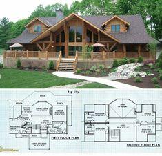 Brilliant Log Cabin Floor Plans 61 on Home Decor A. - Brilliant Log Cabin Floor Plans 61 on Home Decor A. Log Cabin Floor Plans, Log Home Plans, House Floor Plans, Chalet House, Log Home Decorating, Log Cabin Homes, Log Cabins, Cabins And Cottages, House In The Woods