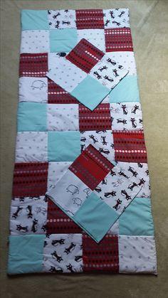 Narzuta patchwork + poszewki na poduszki 80x200cm