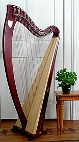 My Harp: Lyon & Healy: Ogden: Celtic Lever Harp  When I have a little girl I want to teach her to play one of these. They are pretty small.
