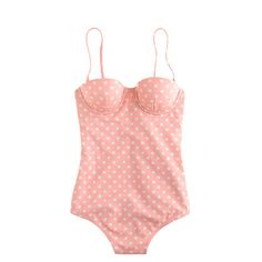 To bring: Onesie | Polka-dot underwire tank | JCrew | Cute worn with a maxi skirt off the beach.