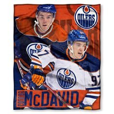 """Oilers - Connor McDavid OFFICIAL National Hockey League Players Association, 50""""x 60"""" Players High Definition Silk Touch Throw by The Northwest Company"""