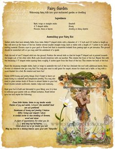 Fairy Garden  Book of Shadows spell pages by steelgoddess on Etsy, $14.95
