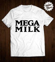 """Anime t-shirt """"Mega Milk"""". Anime DTG print."""