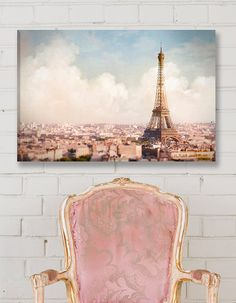 Paris Fine Art Photo on Canvas  TITLE: Paris Above the Clouds    The Eiffel Tower and all of Paris below you, taking from the Arc de Triomphe, now