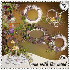 Gone with the wind - Clusters by Black Lady Designs