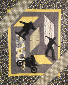 Extreme Sports quilt pattern at Ribbon Candy Quilt Company