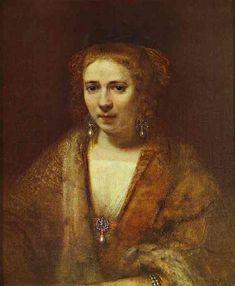 .:. Portrait of Hendrickje Stoffels 1650 Oil on canvas  Musée du Louvre, Paris, France