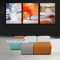 Modern Oil Painting on Canvas Stretched - Bloom in Dusk Item# 1536  - Click image twice for more info - See a larger selection of wall paintings at http://www.zbestsellers.com/level.php?node=106&title=oil-paintings - home, home decor, home ideas, wall decor, oil paintings, gift ideas