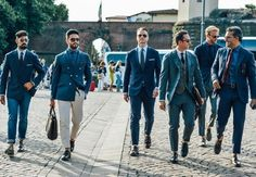 Are you inspired by the style of your group, or foursome? Set the standard for them!!  www.yootopeagolf.com   Pitti Uomo Street Style 2014.