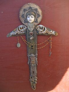 Salvage Angel mixed media assemblage art doll by OhMyGypsySoul, $265.00                                                                                                                                                      More