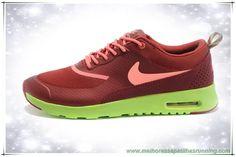Burgundy / Coral / Fluorescent Verde 599409-663 Nike Air Max Thea Print novo tenis