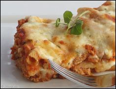 Three Cheese Ziti with Turkey. Add a side salad and you've got one healthy, Skinny Ms. delicious meal!
