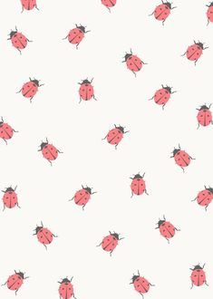 ladybug Art Print by Georgiana Paraschiv - X-Small Cute Backgrounds, Cute Wallpapers, Wallpaper Backgrounds, Iphone Wallpaper, Nature Wallpaper, Surface Pattern Design, Pattern Art, Textures Patterns, Print Patterns