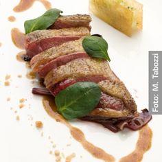 Piccione cotto in cenere di quercia con salsa al mosto cotto - Chef Fabio Baldassarre