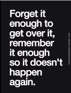 Remember it enough