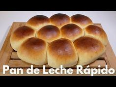 Quick Milk Bread (Easy step by step recipe) - How to make express milk BREADS Mexican Dinner Recipes, Brunch Recipes, Bread Recipes, Dessert Recipes, Pozole, Pasta Pizza, Honey Cornbread, Mexican Bread, Biscuits