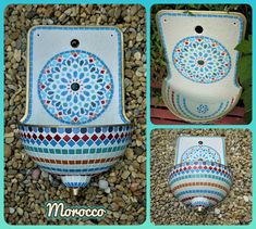 Handmade mosaic wall fountain, moroccan style