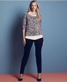 INC International Concepts Plus Size Jeans, Skinny, Black Wash - Plus Size Jeans - Plus Sizes - Macy's