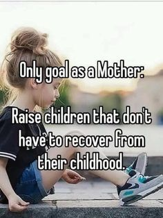 YES! Therapy is an amazing experience and changed my life but I don't want to be the reason my children may need it someday!