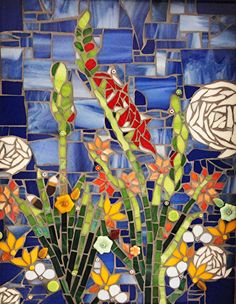 Glad Garden by Patty Franklin Mosaic ~ 14 x 11