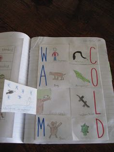 Science Notebooking, math and clock partners