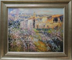 Antonio Segrelles : Landscape Medium: Oil on canvas Measurements (cm): 134x88 Canvas measurements (cm): 81x65 Marvellous landscape with impressionist brushwork. The artist displays his homeland of Valencia with a generous use of colour and light in is views of villages.An unpretentious but successful painter. $933
