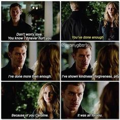 I AM IN LOVE WITH KLAUS. This scene is one of my favorites.